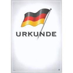 Urkunde mit Deutschlandfahne