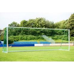 Sport-Thieme Trainings-Grossfeldtor 7,32x2,44 m, vollverschweisst, silber, mit integraler Netzaufhängung SimplyFix