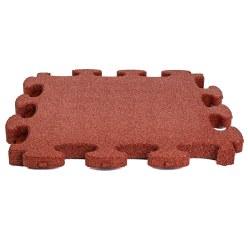 """Gum-Tech Fallschutzplatte """"Puzzle mat 3D"""" Grün, 4,5 cm"""