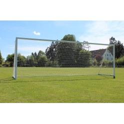 Sport-Thieme Grossfeld-Fussballtor mit klappbarem Netzbügel und Bodenrahmen