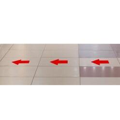 """Tarifold Bodenmarkierung """"Aufkleber"""" Rot, Pfeil, 200x10 mm"""