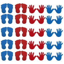 Sport-Thieme® Bodenmarkierungs-Set: Hand und Fuss