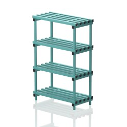 """Frei stehendes Kunststoff-Regal """"Schwimmbad"""" 150x50 cm, Blau"""