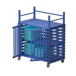 Regalwagen aus Kunststoff mit Zusatzfläche Blau