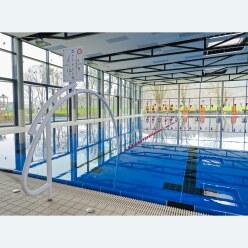 Sport-Thieme Durchschwimmbogen, Alu, weiss einbrennlackiert, inkl. Hinweisschild