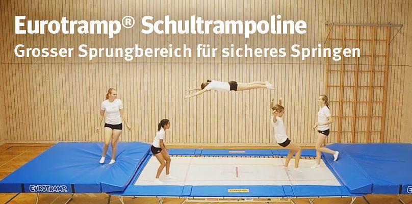 Eurotramp® Schultrampoline - Grosser Sprungbereich für sicheres Springen
