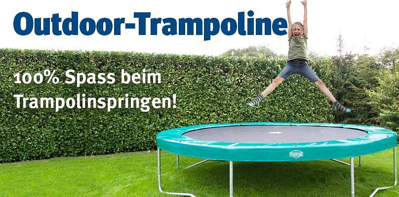 Outdoor-Trampoline - 100% Spass beim Springen
