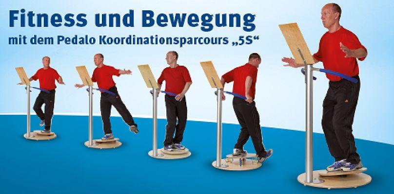 Fitness und Bewegung mit dem Pedalo Koordinationsparcour 5S