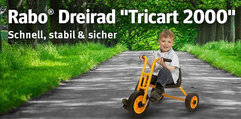 """Rabo® Dreirad """"Tricart 2000""""  - Schnell, stabil & sicher"""