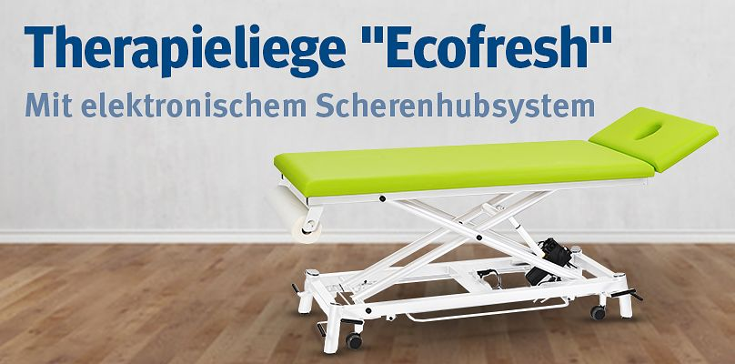 """Therapieliege """"Ecofresh"""" - Mit elektronischem Scherenhubsystem"""