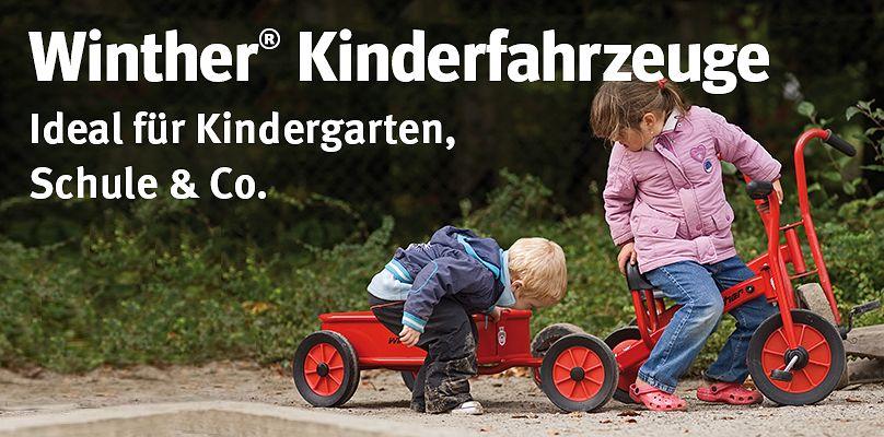 Winther® Kinderfahrzeuge - Ideal für Kindergarten, Schule & Co.