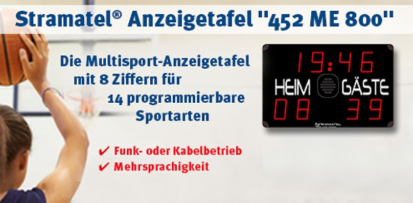 """Stramatel® Anzeigetafel """"452 ME 800"""" bei Sport-Thieme®"""
