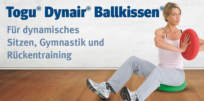 Togu Dynair Ballkissen - Für dynamisches Sitzen, Gymnastik und Rückentraining