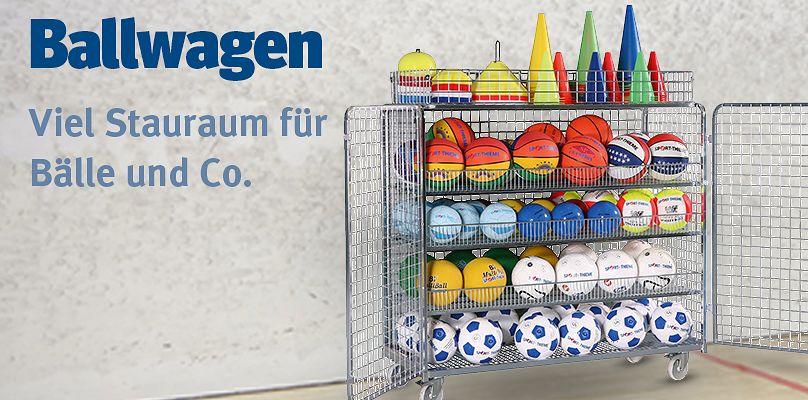 Ballwagen - Viel Stauraum für Bälle und Co.