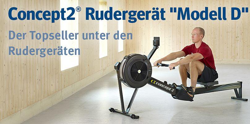 """Concept2® Rudergerät """"Modell D""""  - Der Topseller unter den Rudergeräten"""