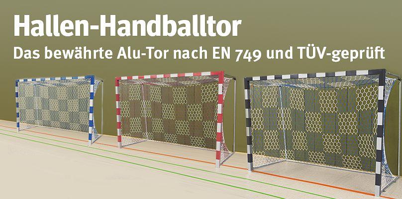 Hallen-Handballtor - Das bewährte Alu-Tor