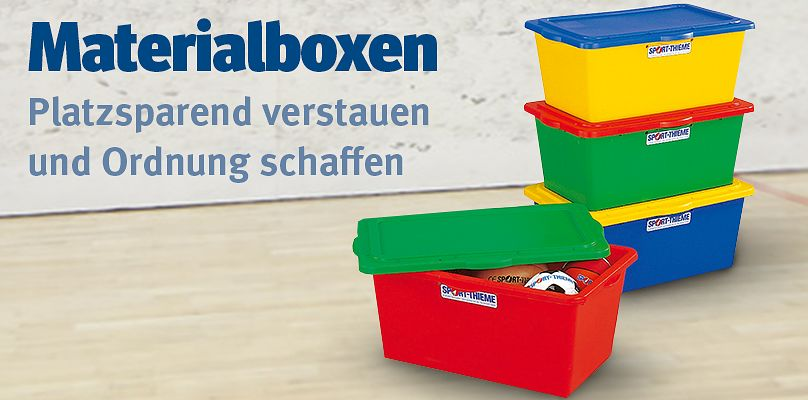 Mit Materialboxen Platz schaffen und für Ordnung sorgen