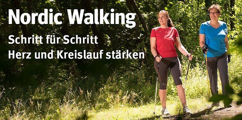 Schritt für Schritt fit mit Nordic Walking