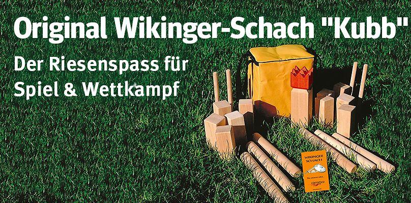"""Original Wikinger-Schach """"Kubb"""" - Der Riesenspass für Spiel & Wettkampf"""