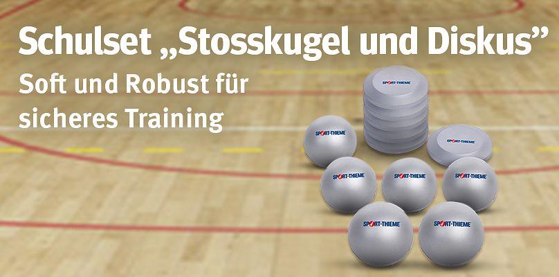 """Schulset """"Stosskugel und Diskus"""" - Soft und Robust für sicheres Training"""