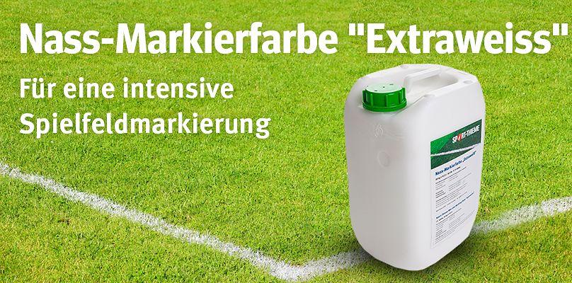 """Sport-Thieme® Nass-Markierfarbe """"Extraweiss"""" - Für eine intensive Spielfeldmarkierung"""