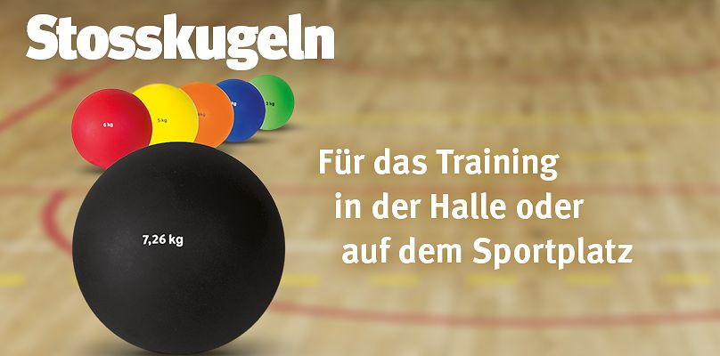 Stosskugeln für das Training in Halle und Sportplatz