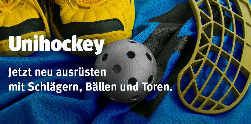 Unihockey - Schläger, Bälle und Tore